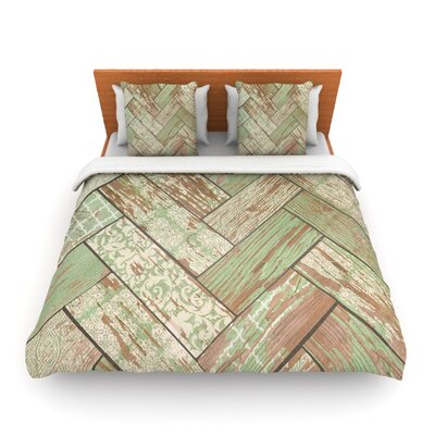 Patina by Heidi Jennings Woven Duvet Cover Size: Queen