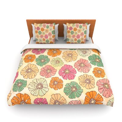 Vintage Petals by Heidi Jennings Woven Duvet Cover Size: Queen
