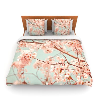 Blossoms All Over by Iris Lehnhardt Woven Duvet Cover Size: Queen