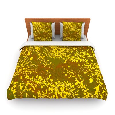 Twigs Silhouette Earthy by Iris Lehnhardt Woven Duvet Cover Size: King/California King