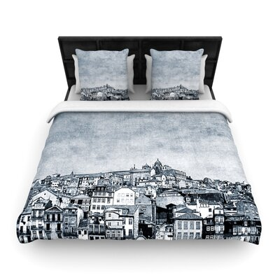 A Riberia by Ingrid Beddoes Woven Duvet Cover Size: Twin