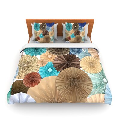 Day At The Beach by Heidi Jennings Woven Duvet Cover Size: Queen