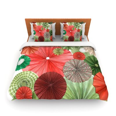 Christmas Remix by Heidi Jennings Woven Duvet Cover Size: Twin