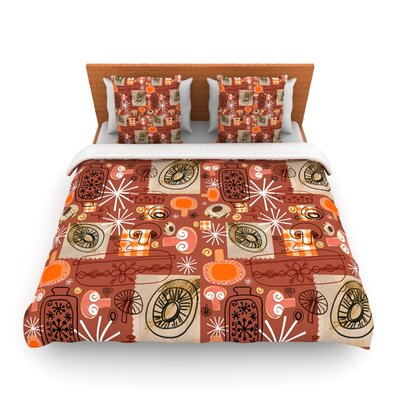 Vintage Kitchen by Jane Smith Woven Duvet Cover Size: Queen
