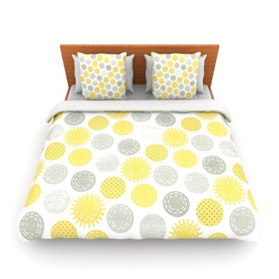 Sunspot by Heidi Jennings Woven Duvet Cover Size: King/California King