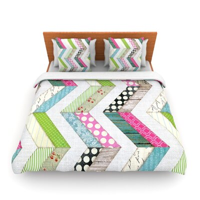 Fabric Much? by Heidi Jennings Woven Duvet Cover Size: Queen