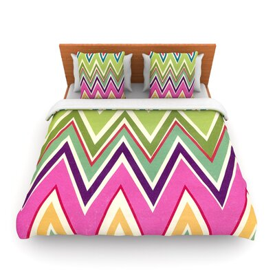 Clash Of Color by Heidi Jennings Woven Duvet Cover Size: King/California King