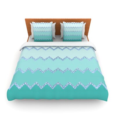 Avalon Mint Ombre by Monika Strigel Woven Duvet Cover Size: Twin