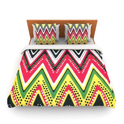 Jamaican Me Crazy by Heidi Jennings Woven Duvet Cover Size: Queen