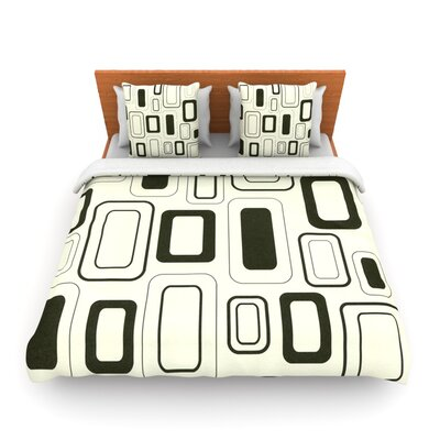 Cubes For Days by Heidi Jennings Woven Duvet Cover Size: Queen