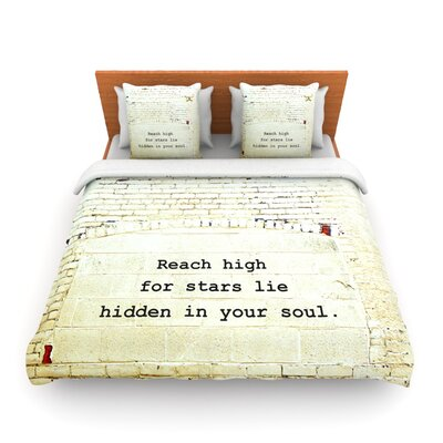 Reach High by Robin Dickinson Woven Duvet Cover Size: Queen