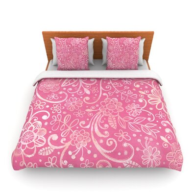 Too Much Pink by Heidi Jennings Woven Duvet Cover Size: King/California King