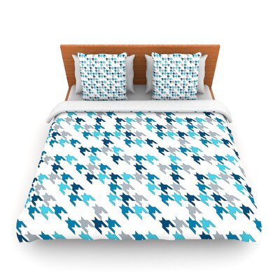 Blue Tooth by Project M Woven Duvet Cover Size: Queen