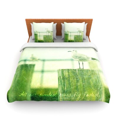 Sweetest Hours by Robin Dickinson Woven Duvet Cover Size: Queen