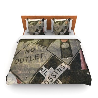 City Outing by Heidi Jennings Woven Duvet Cover Size: Queen
