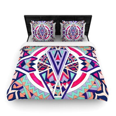 Abstract Journey by Pom Graphic Woven Duvet Cover Size: Queen