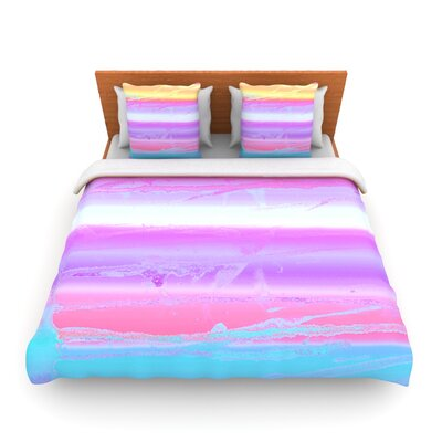 Drip Dye Warm by Nina May Woven Duvet Cover Size: Queen