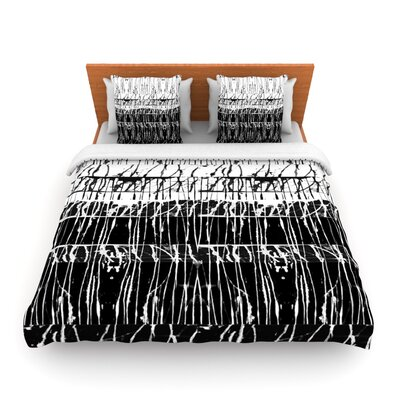 Century City Splatter by Nina May Woven Duvet Cover Size: Queen