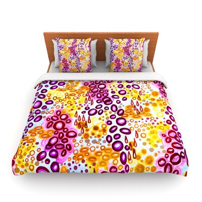 Circular Persuasion Purple by Ebi Emporium Woven Duvet Cover Size: Queen