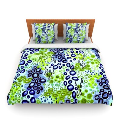 Circular Persuasion Blue Green by Ebi Emporium Woven Duvet Cover Size: Twin