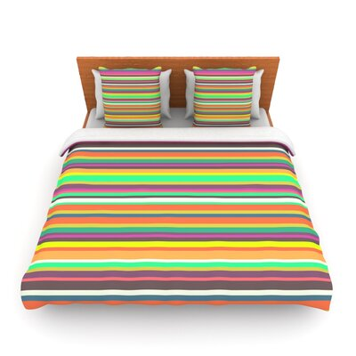 Pattern Play Stripes by Nandita Singh Woven Duvet Cover Size: Twin