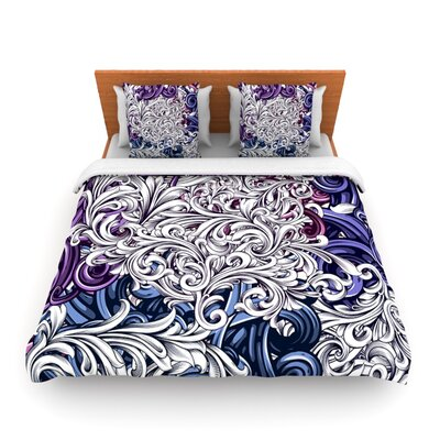 Celtic Floral II by Nick Atkinson Woven Duvet Cover Size: Queen