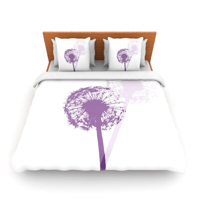 Dandelion by Monika Strigel Woven Duvet Cover Size: Twin