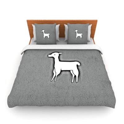 Llama One by Monika Strigel Woven Duvet Cover Size: Twin