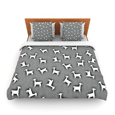 Llama Multi by Monika Strigel Woven Duvet Cover Size: King/California King