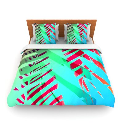 Hot Tropical by Alison Coxon Woven Duvet Cover Size: Twin