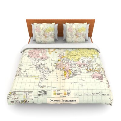 Travel by Catherine Holcombe Woven Duvet Cover Size: Twin