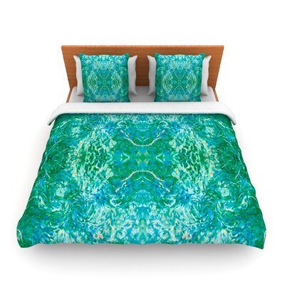 Eden by Nikposium Woven Duvet Cover Size: King/California King