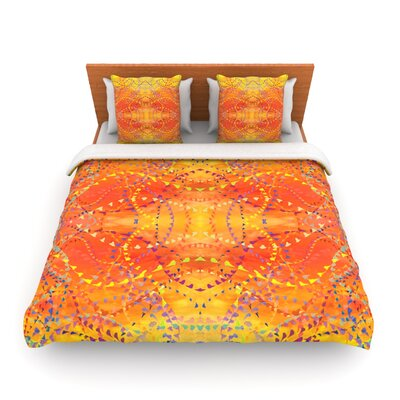 Sunrise by Nikposium Woven Duvet Cover Size: King/California King