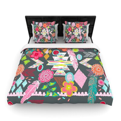 Aztec Boho by Anneline Sophia Featherweight Duvet Cover Size: Twin, Color: Multi, Fabric: Woven Polyester
