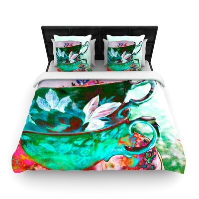 Mad Hatters T-Party IV by alyZen Moonshadow Featherweight Duvet Cover Size: King/California King, Fabric: Woven Polyester