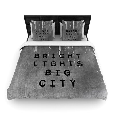 Bright Lights by Alison Coxon Woven Duvet Cover Size: Twin