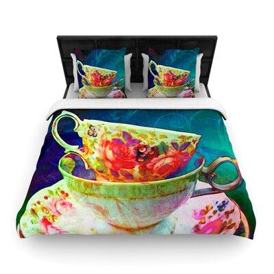 Mad Hatters T-Party V by alyZen Moonshadow Featherweight Duvet Cover Size: King/California King, Fabric: Woven Polyester