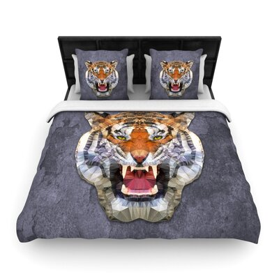 Abstract Tiger by Ancello Featherweight Duvet Cover Size: Queen, Fabric: Woven Polyester