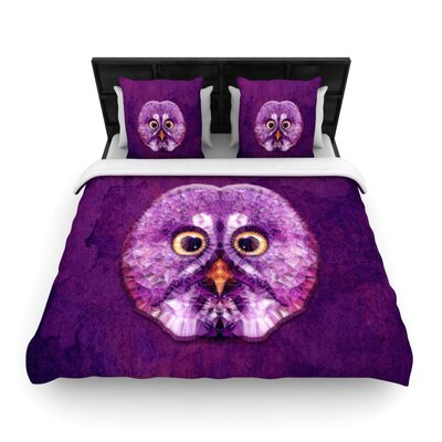 Hoot! by Ancello Woven Duvet Cover Size: King/California King
