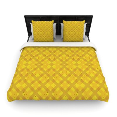 Dotted Plaid by Mydeas Geometric Featherweight Duvet Cover Size: King/California King, Fabric: Woven Polyester