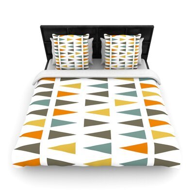 Stacked Geo by Pellerina Design Featherweight Duvet Cover Size: Queen, Fabric: Woven Polyester