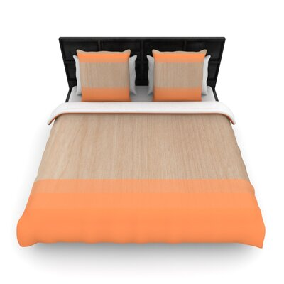 Art Orange by Brittany Guarino Woven Duvet Cover Size: Queen