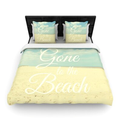 Gone To The Beach by Alison Coxon Woven Duvet Cover Size: Queen