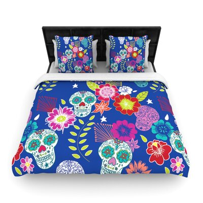 Day of the Dead Light by Anneline Sophia Featherweight Duvet Cover Size: King/California King, Fabric: Woven Polyester