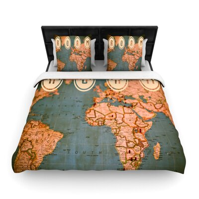 Roam II by Ann Barnes Featherweight Duvet Cover Size: Queen, Fabric: Woven Polyester