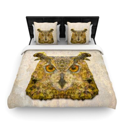 Abstract Owl by Ancello Featherweight Duvet Cover Size: King/California King, Fabric: Woven Polyester