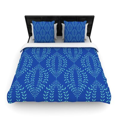 Laurel Leaf by Anneline Sophia Featherweight Duvet Cover Size: King/California King, Color: Navy, Fabric: Woven Polyester