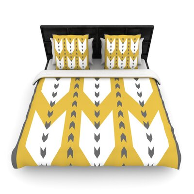 Golden Aztec by Pellerina Design Featherweight Duvet Cover Size: King/California King, Fabric: Woven Polyester