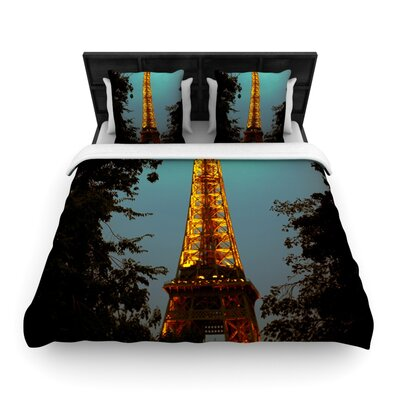 Tour Eiffel by Ann Barnes Featherweight Duvet Cover Size: Twin, Fabric: Woven Polyester