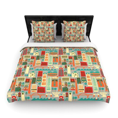 My Fair Milwaukee by Allison Beilke City Featherweight Duvet Cover Size: Queen, Fabric: Woven Polyester